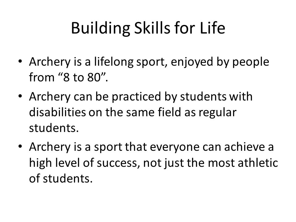 Building Skills for Life