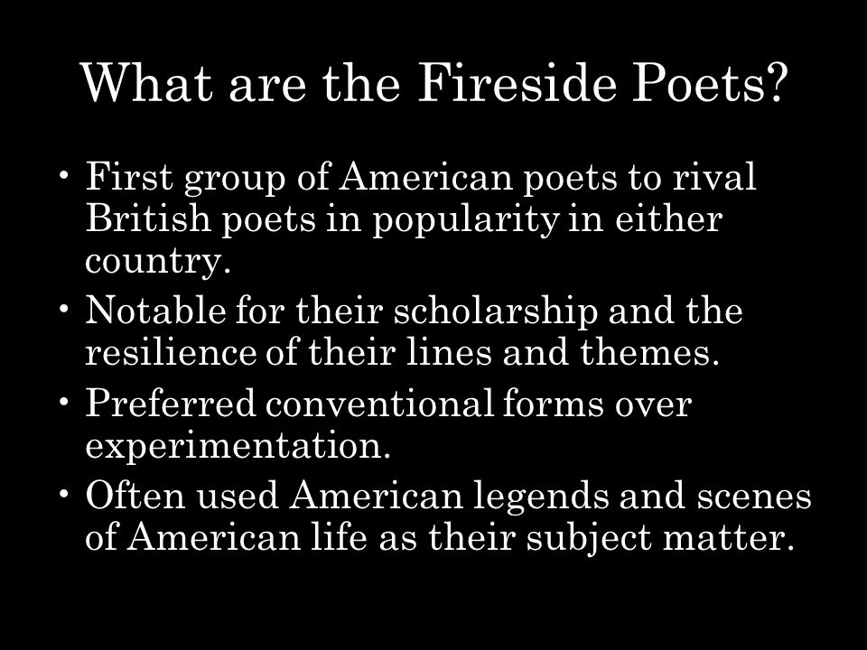 What are the Fireside Poets