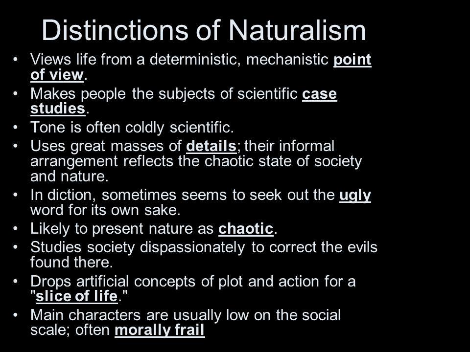 Distinctions of Naturalism