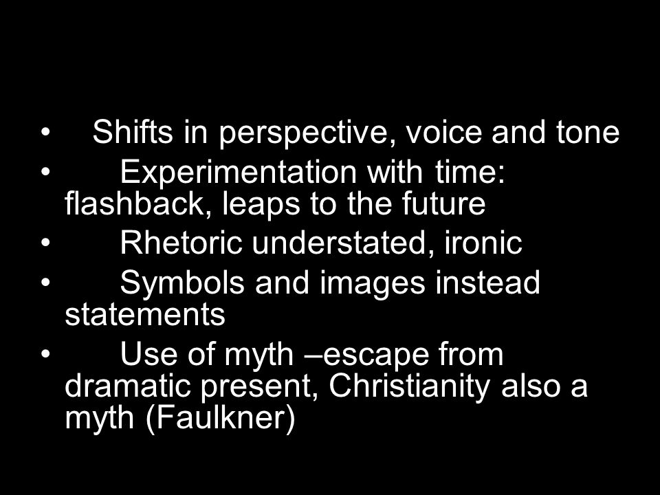 Shifts in perspective, voice and tone
