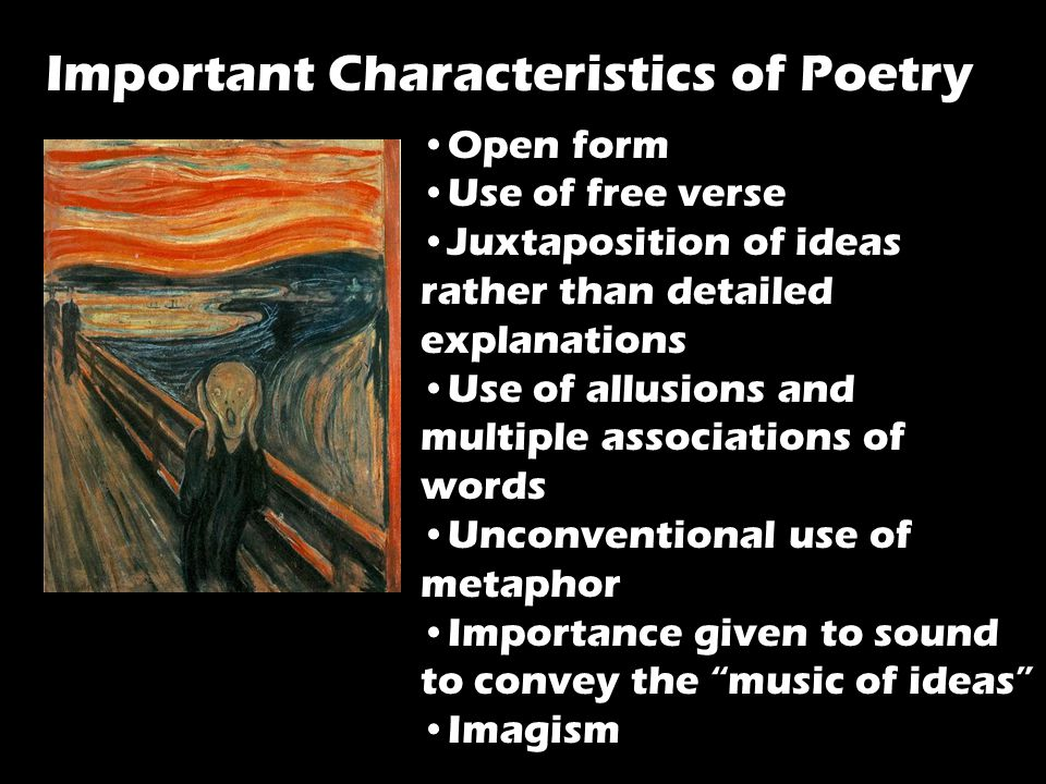 Important Characteristics of Poetry