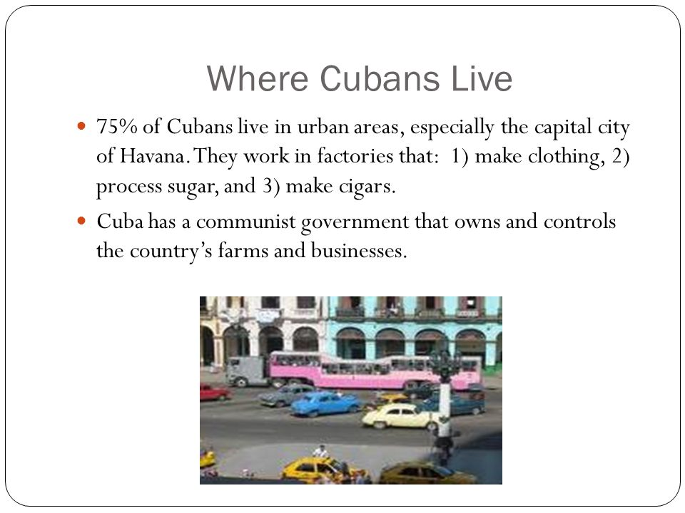 Where Cubans Live