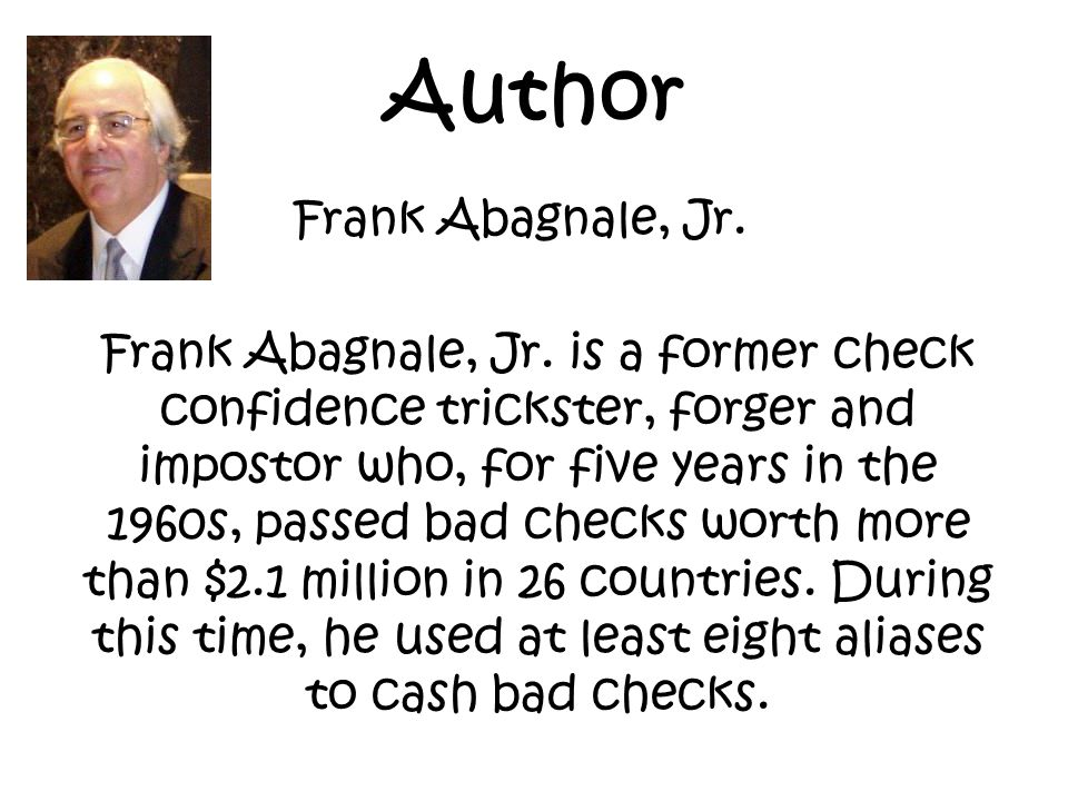 Author Frank Abagnale, Jr.