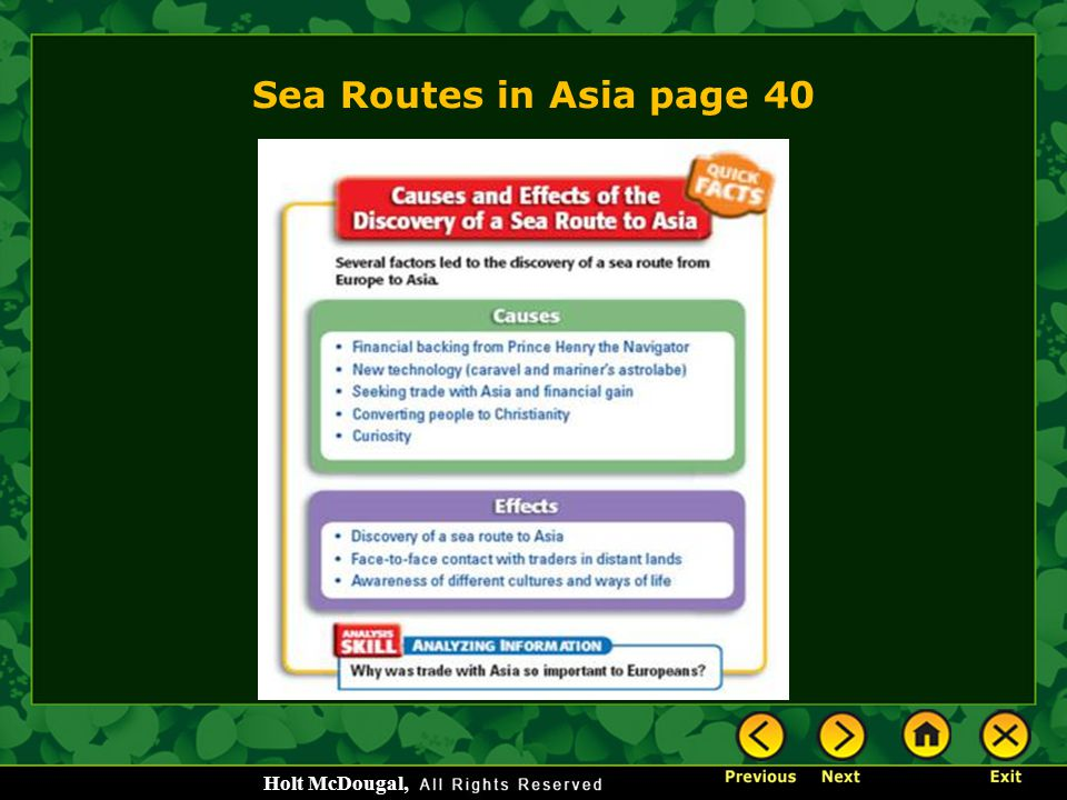 Sea Routes in Asia page 40