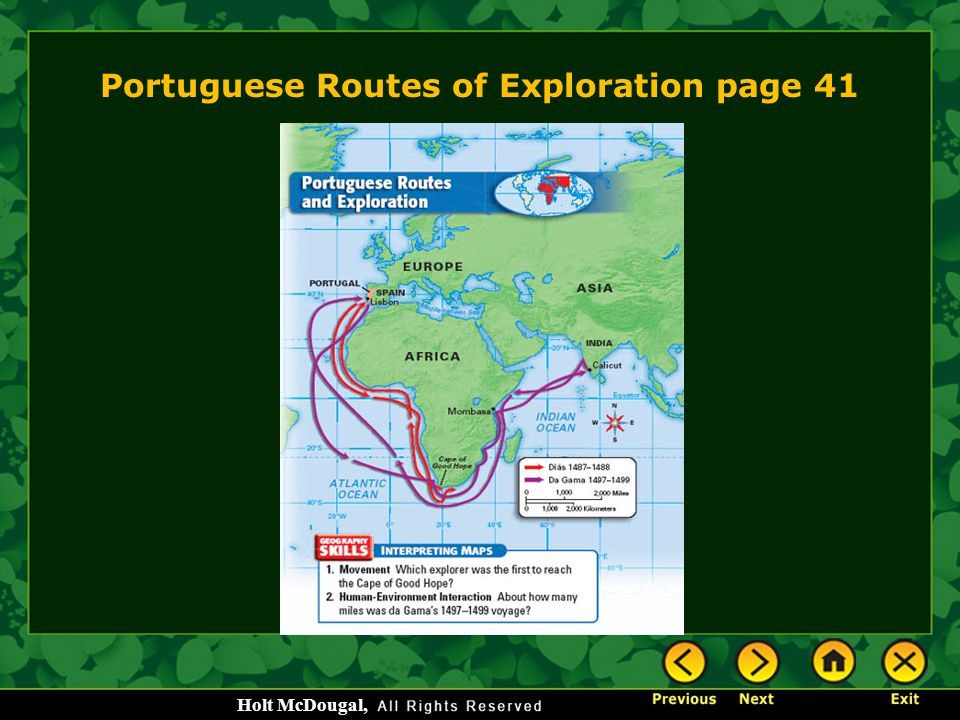 Portuguese Routes of Exploration page 41