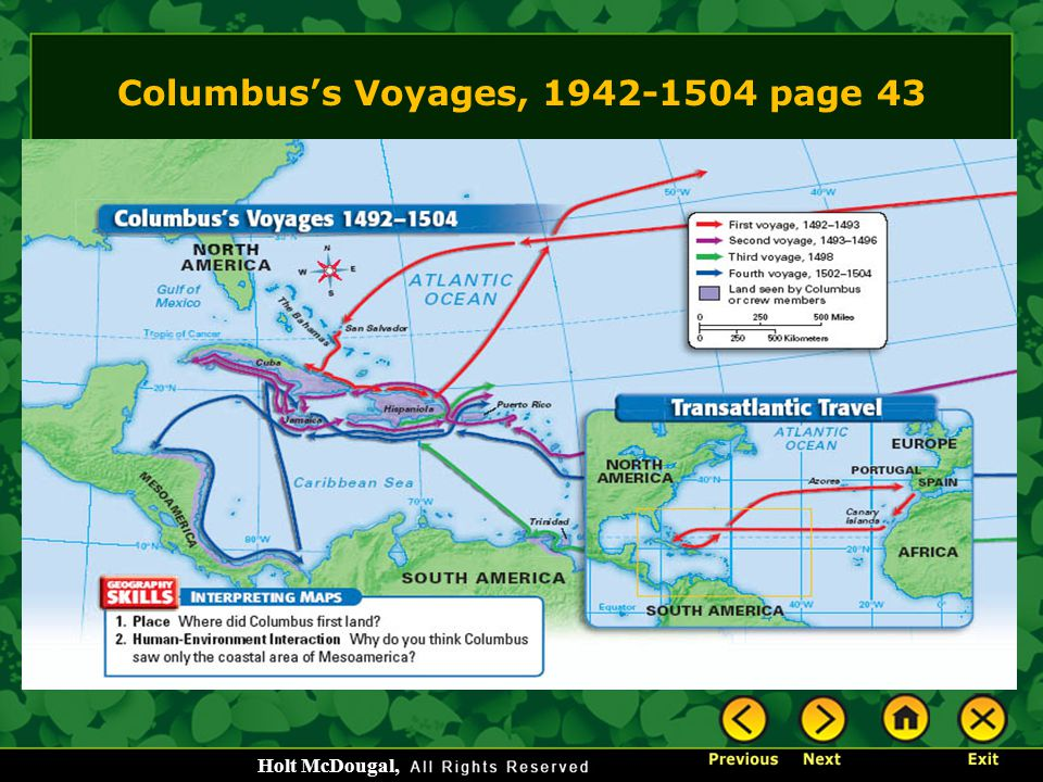 Columbus's Voyages, 1942-1504 page 43