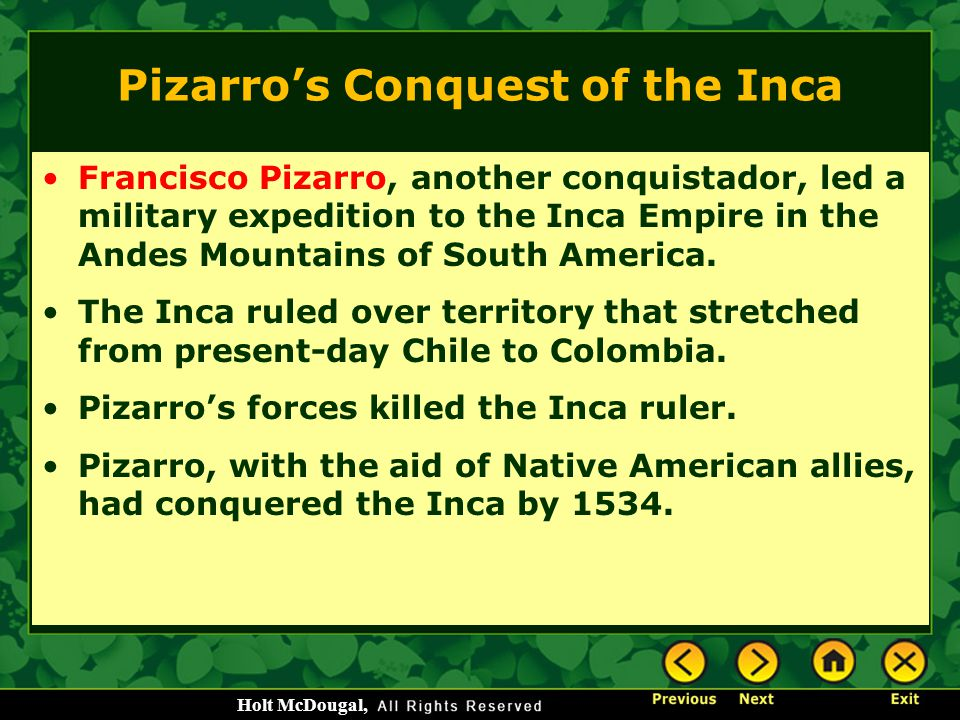 Pizarro's Conquest of the Inca