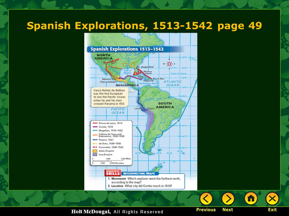 Spanish Explorations, 1513-1542 page 49