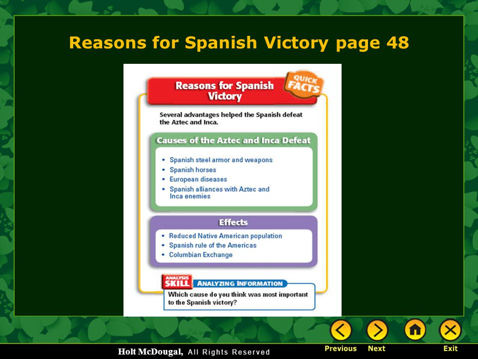 Reasons for Spanish Victory page 48