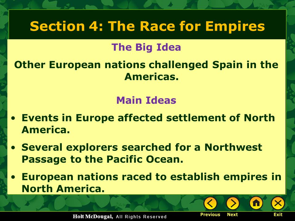 Section 4: The Race for Empires