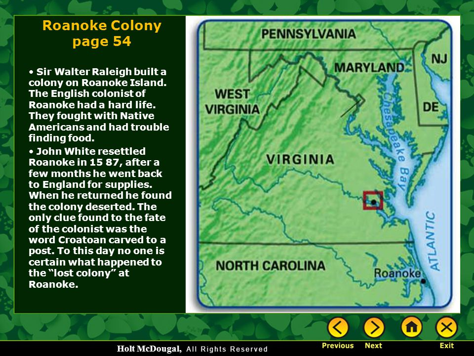 Roanoke Colony page 54