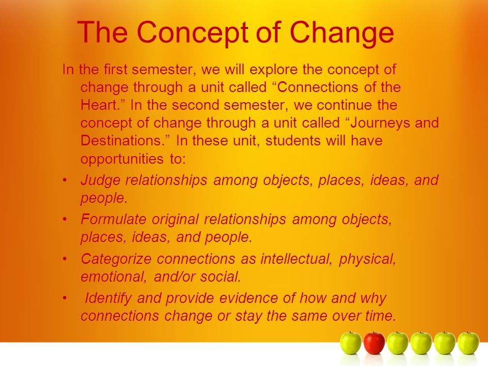 The Concept of Change