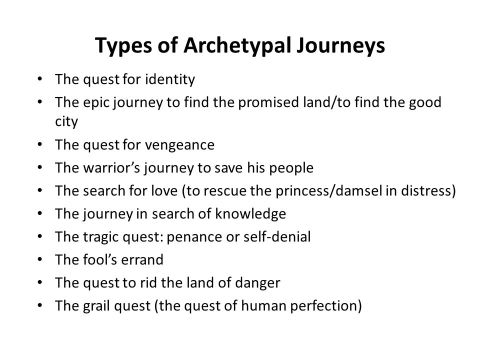 Types of Archetypal Journeys