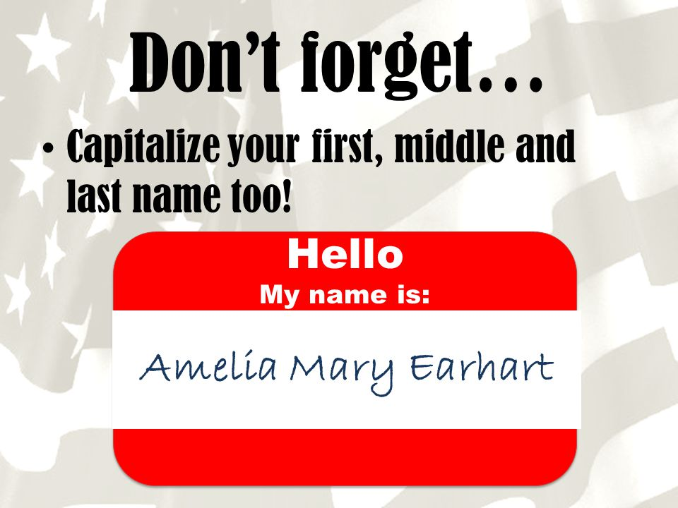 Don't forget… Amelia Mary Earhart