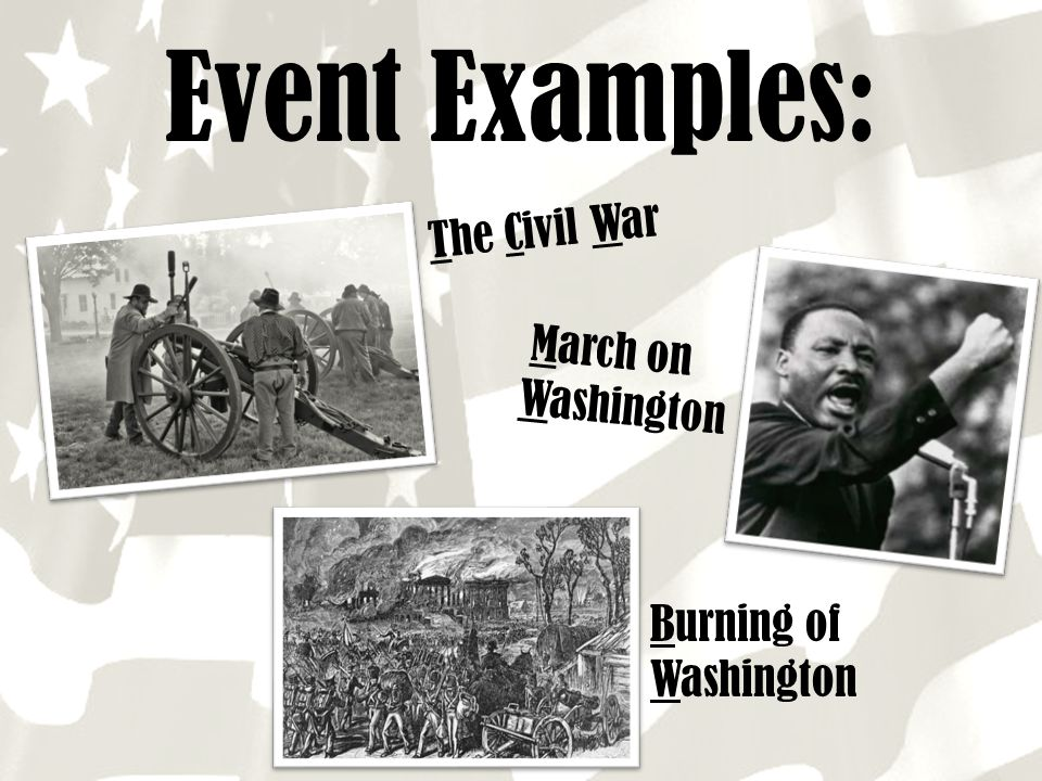 Event Examples: The Civil War March on Washington