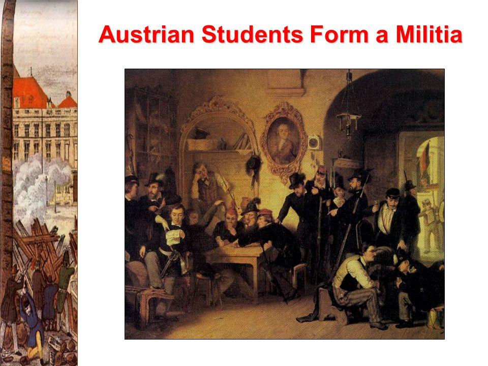Austrian Students Form a Militia
