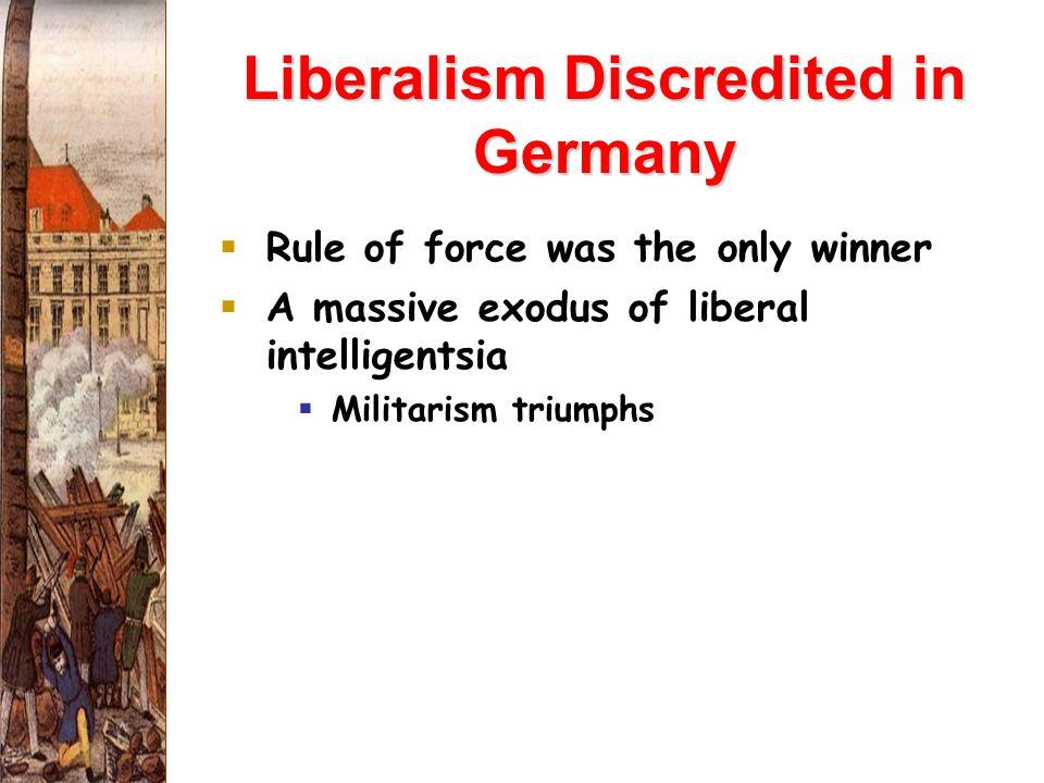 Liberalism Discredited in Germany