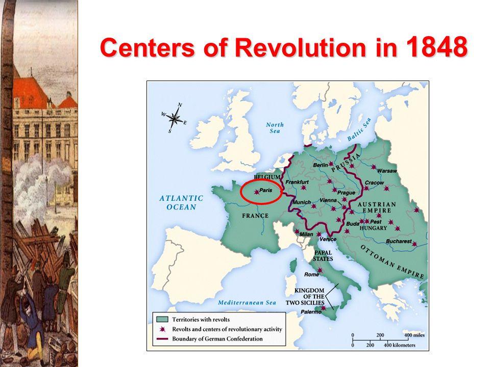Centers of Revolution in 1848