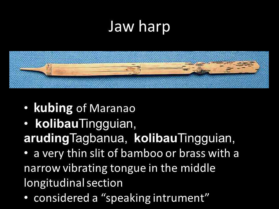 Jaw harp kubing of Maranao