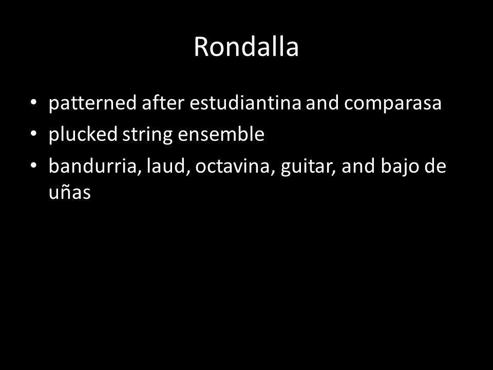 Rondalla patterned after estudiantina and comparasa