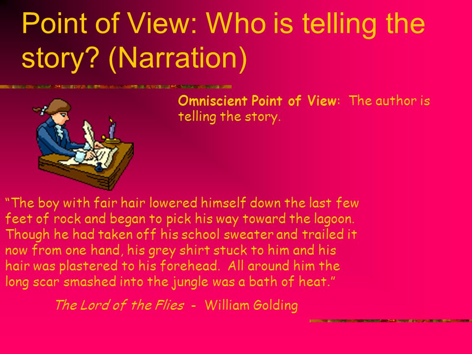 Point of View: Who is telling the story (Narration)