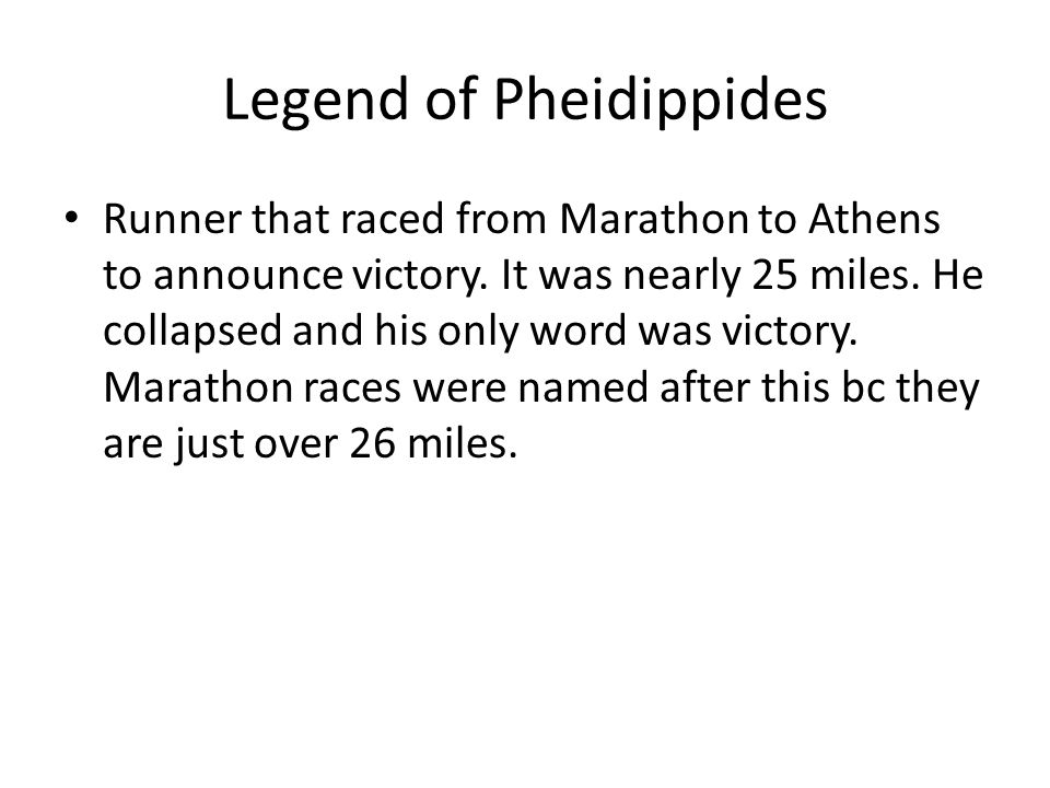 Legend of Pheidippides