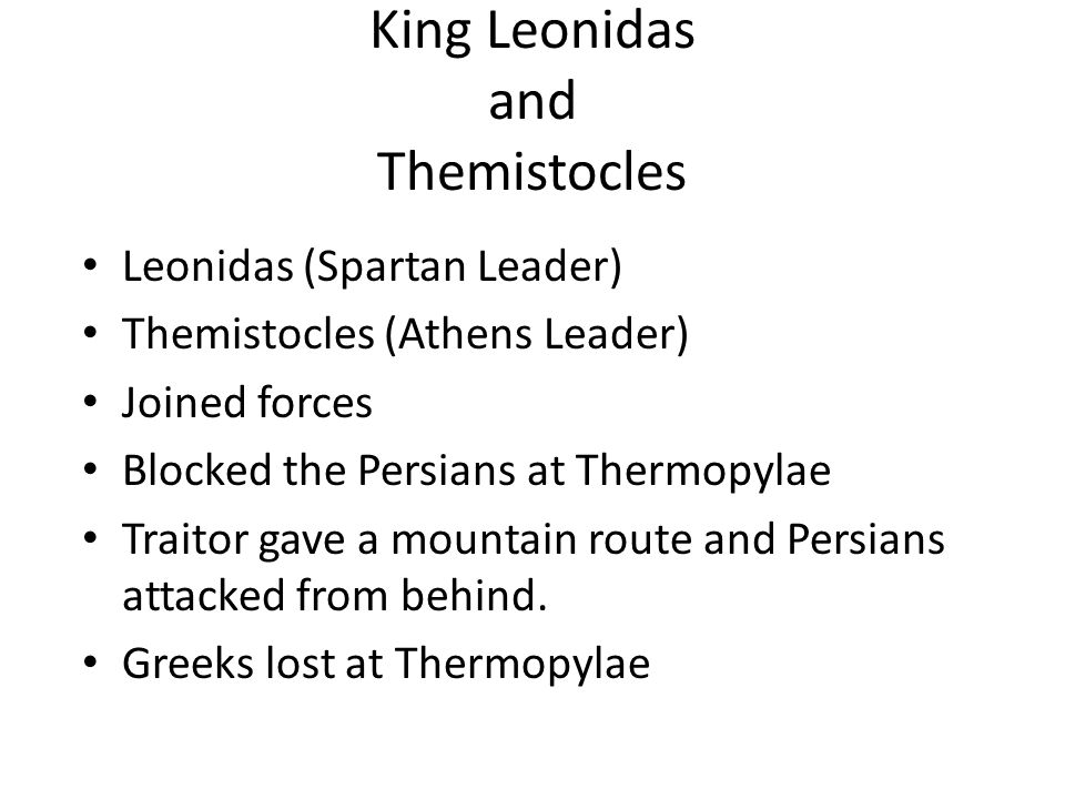 King Leonidas and Themistocles