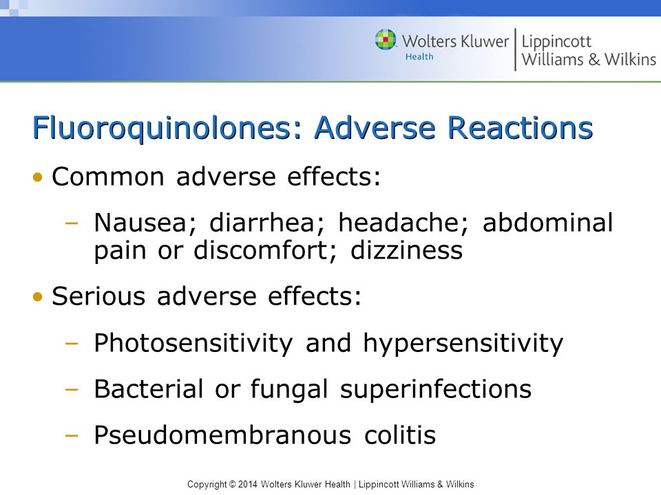 Fluoroquinolones: Adverse Reactions