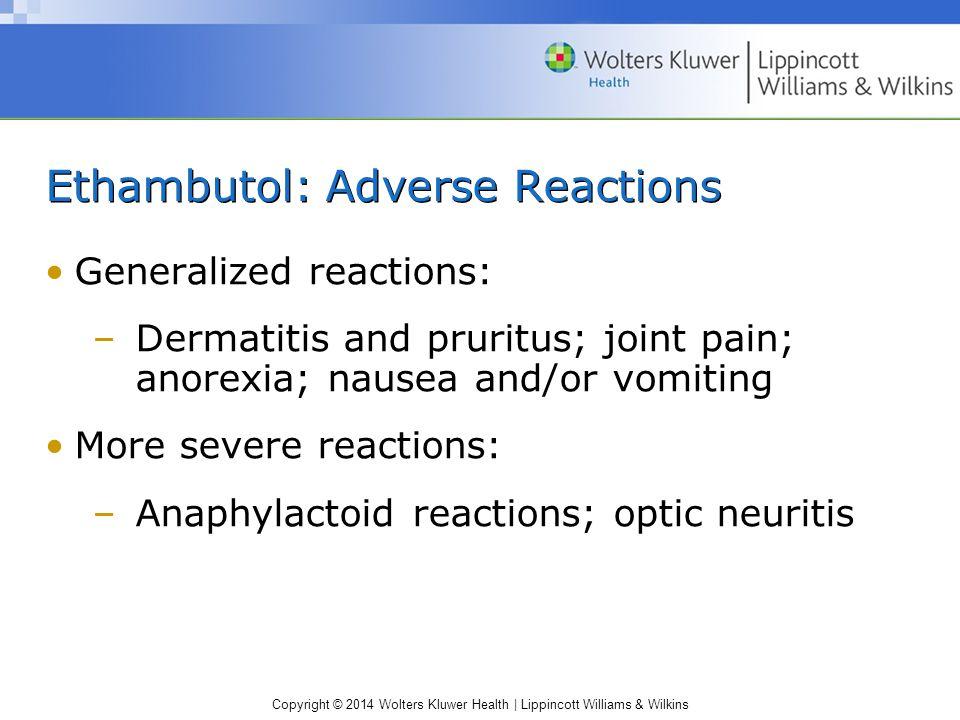 Ethambutol: Adverse Reactions