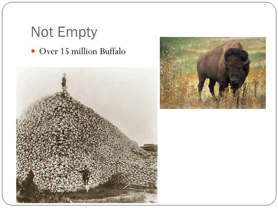 Not Empty Over 15 million Buffalo