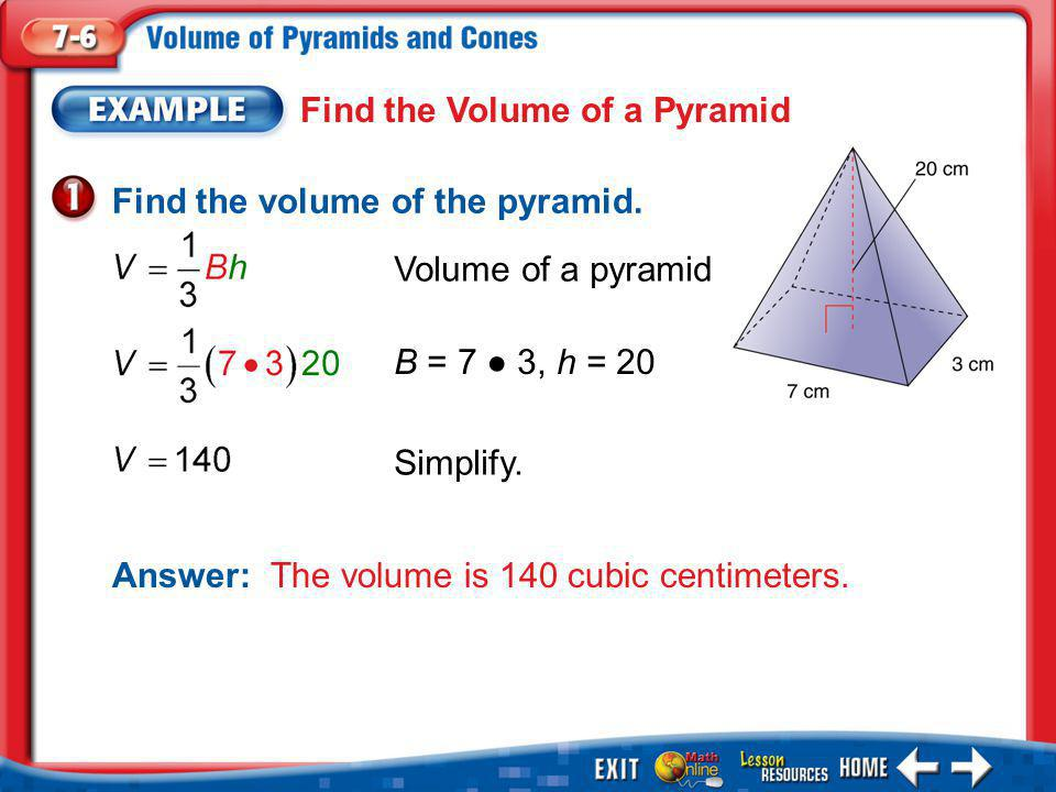 Find the Volume of a Pyramid