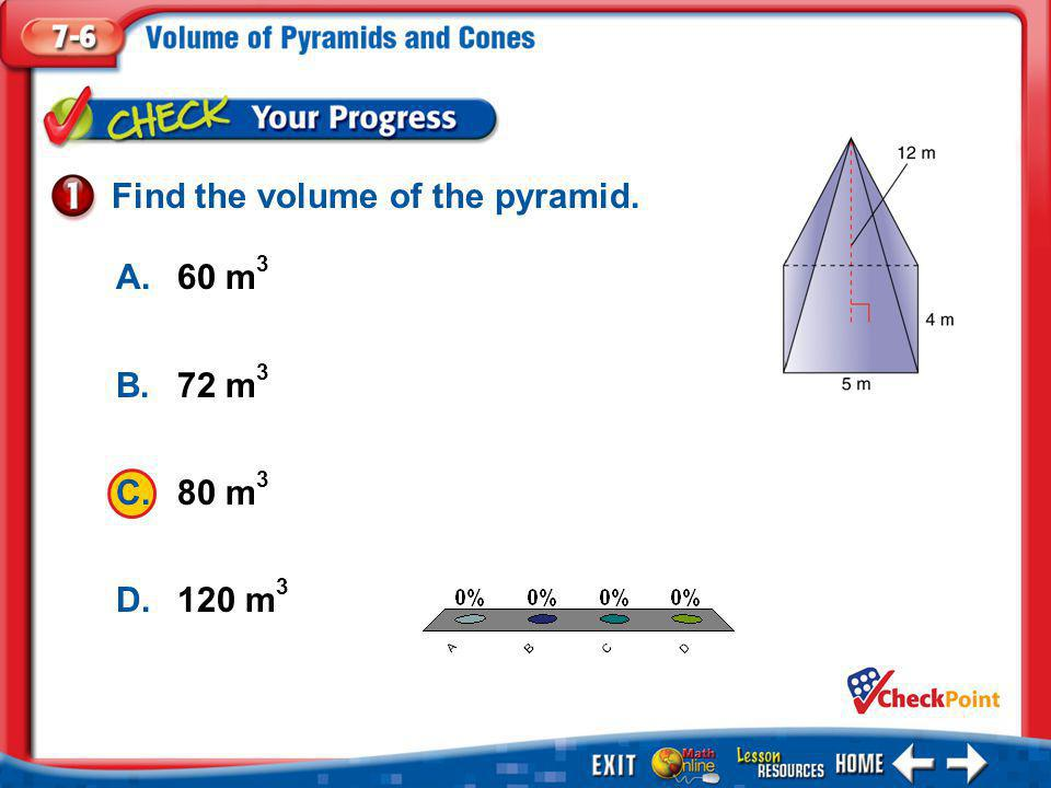 Find the volume of the pyramid.