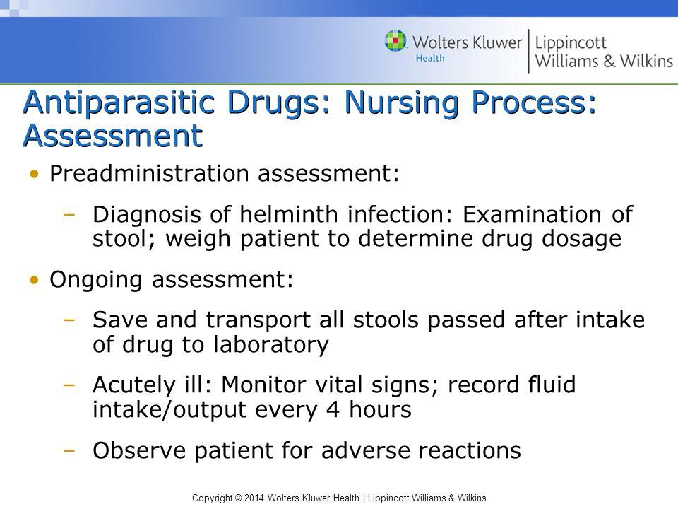 Antiparasitic Drugs: Nursing Process: Assessment
