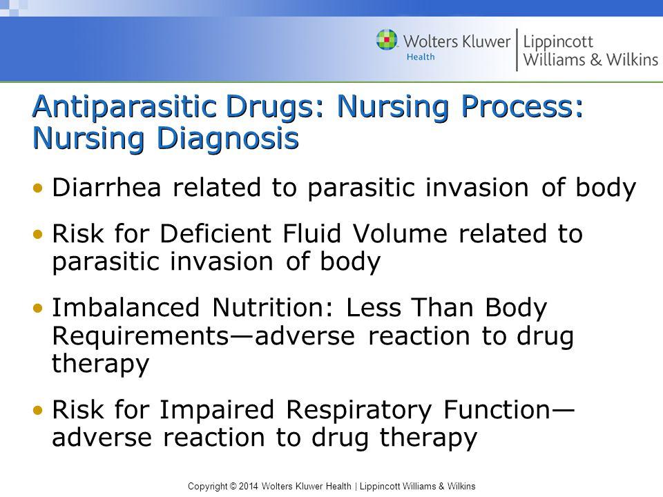 Antiparasitic Drugs: Nursing Process: Nursing Diagnosis