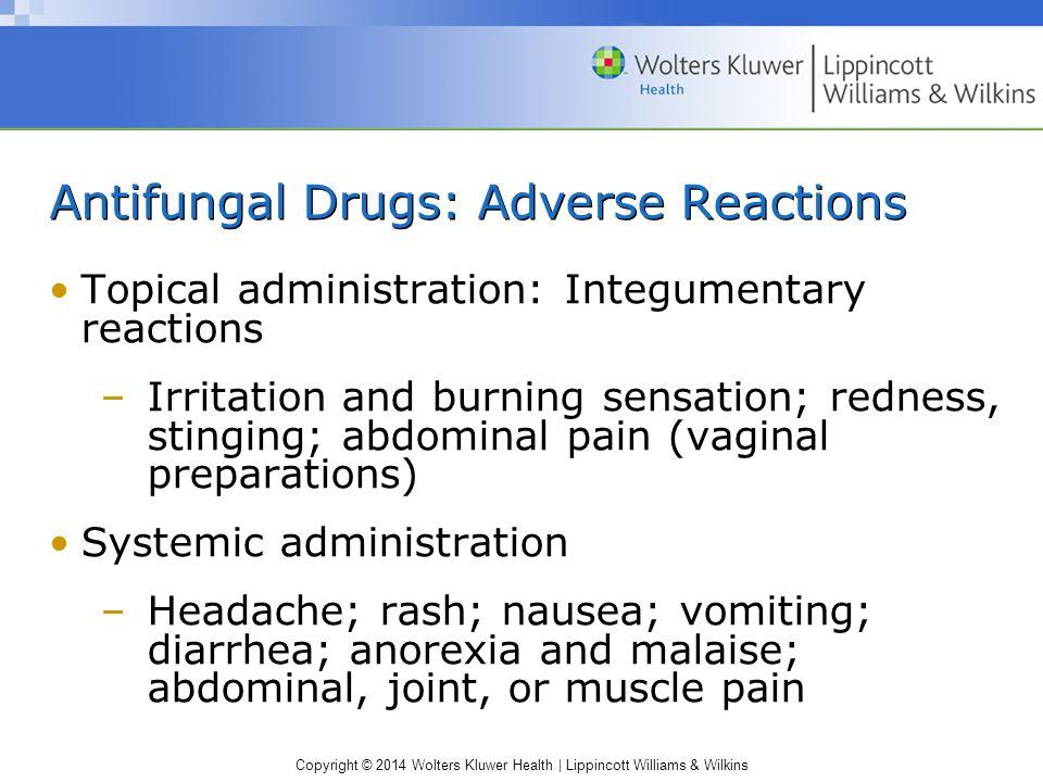 Antifungal Drugs: Adverse Reactions