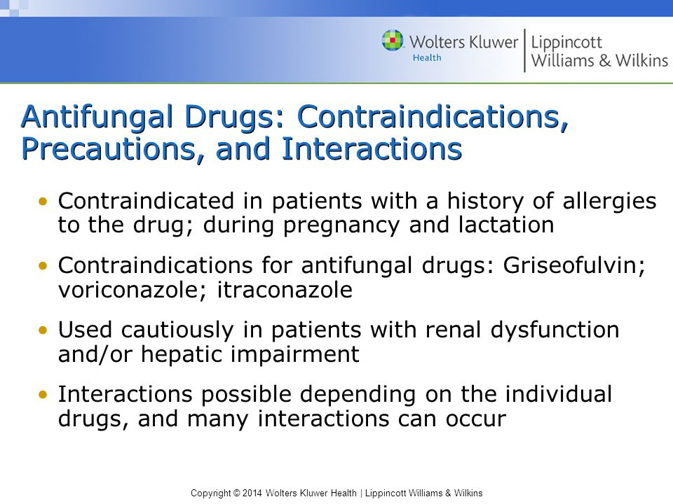 Antifungal Drugs: Contraindications, Precautions, and Interactions