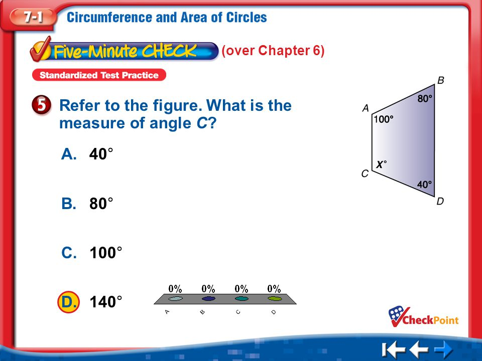 Refer to the figure. What is the measure of angle C