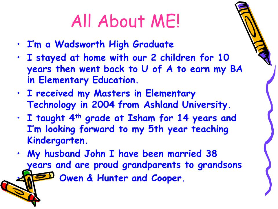 All About ME! I'm a Wadsworth High Graduate