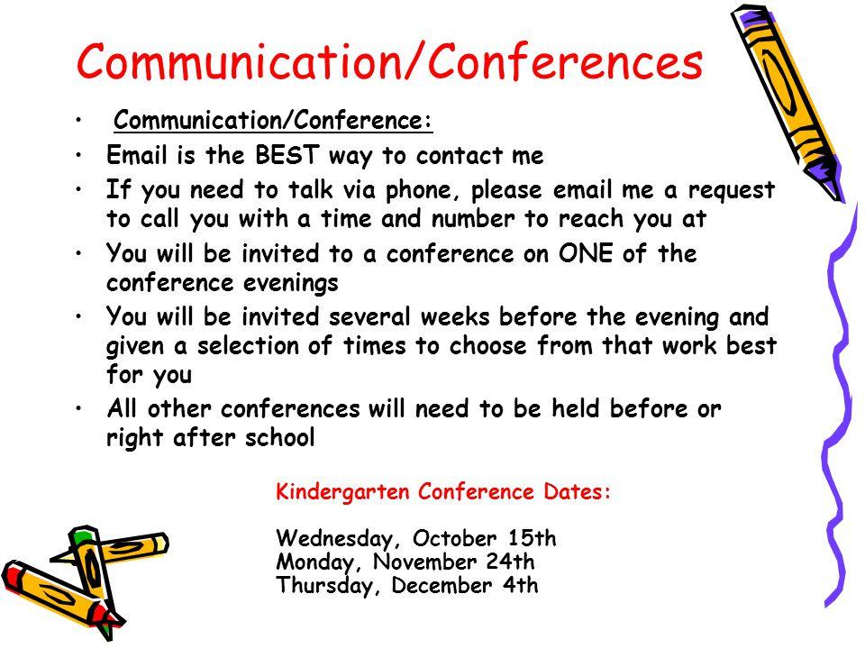 Communication/Conferences