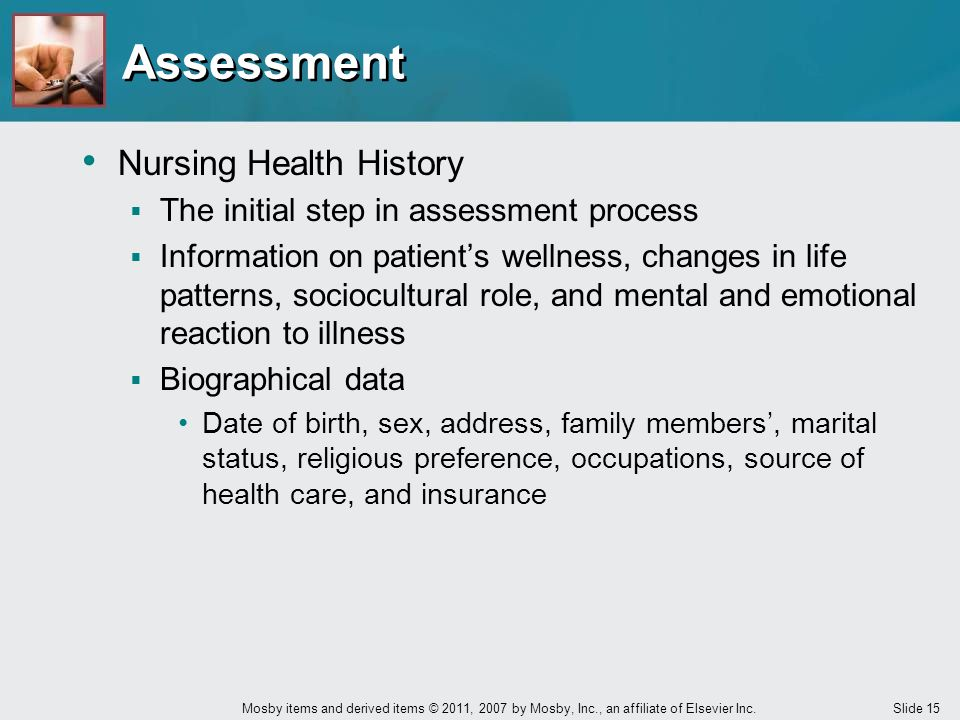 Assessment Nursing Health History