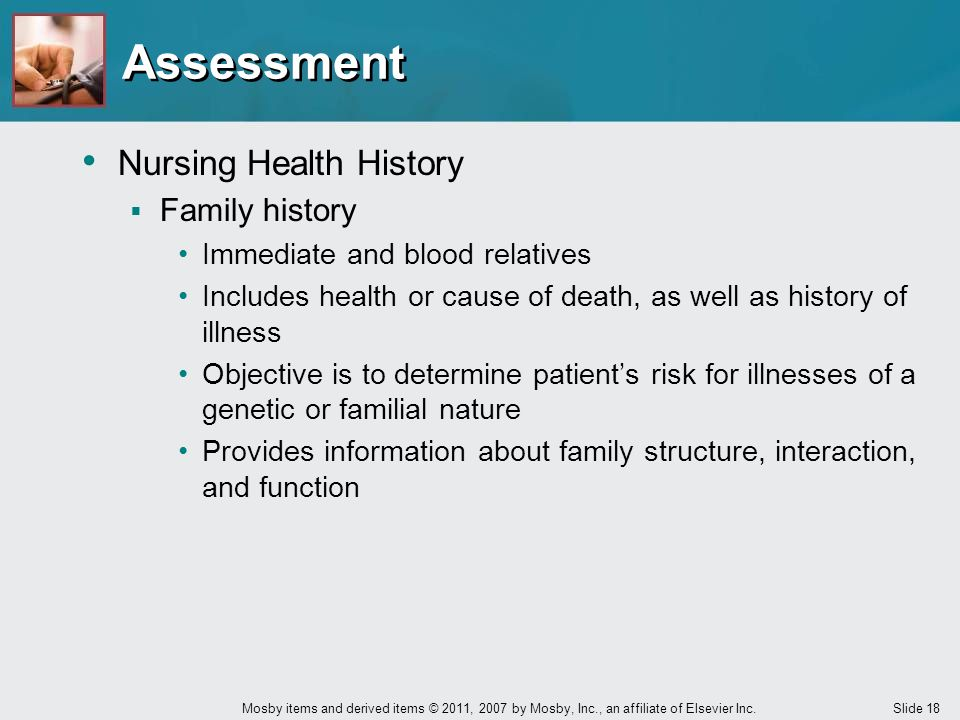 Assessment Nursing Health History Family history