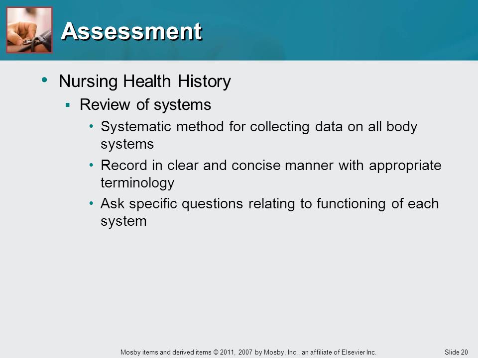 Assessment Nursing Health History Review of systems