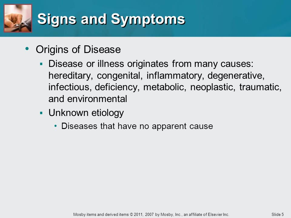 Signs and Symptoms Origins of Disease