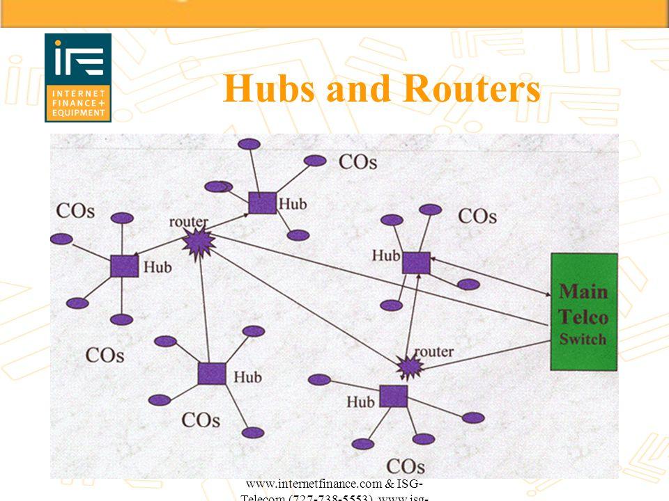 Hubs and Routers Copyright 1999 IF+E (800-919-4521) www.internetfinance.com & ISG-Telecom (727-738-5553) www.isg-telecom.com.