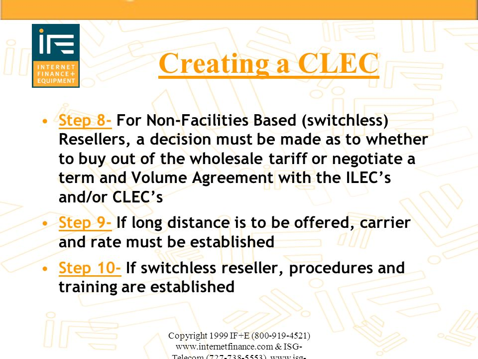 Creating a CLEC