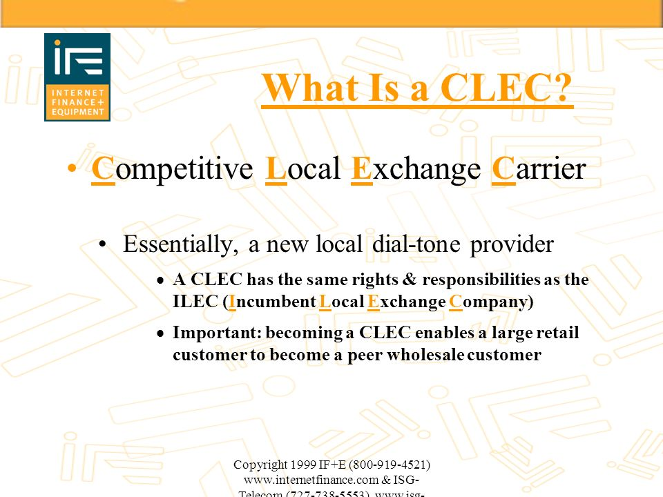 What Is a CLEC Competitive Local Exchange Carrier