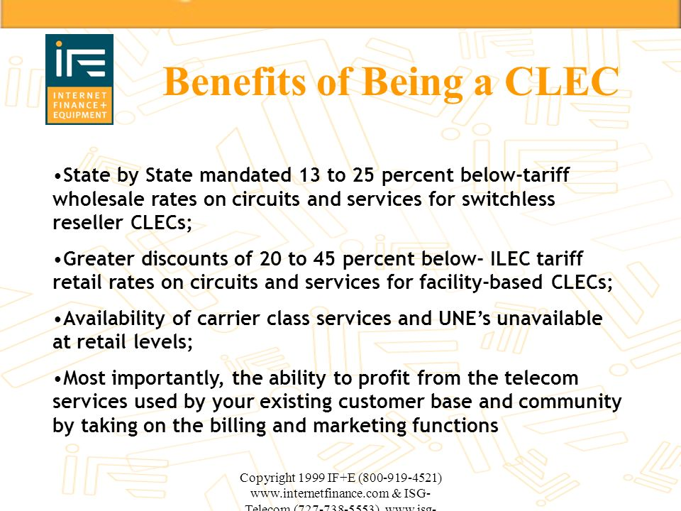 Benefits of Being a CLEC