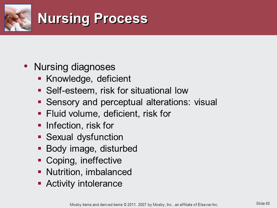 Nursing Process Nursing diagnoses Knowledge, deficient