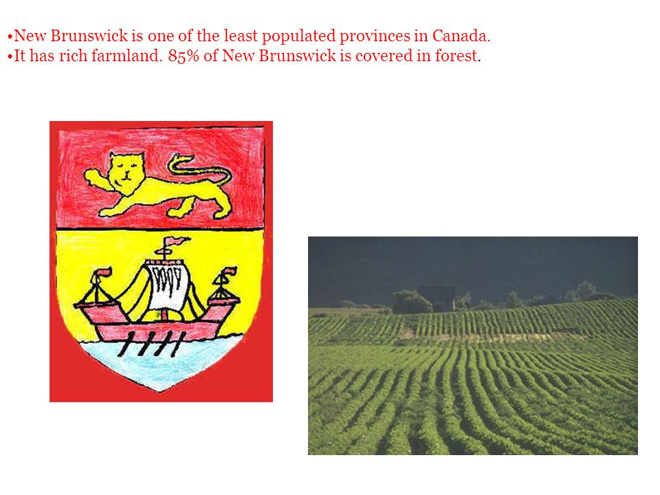 New Brunswick is one of the least populated provinces in Canada.