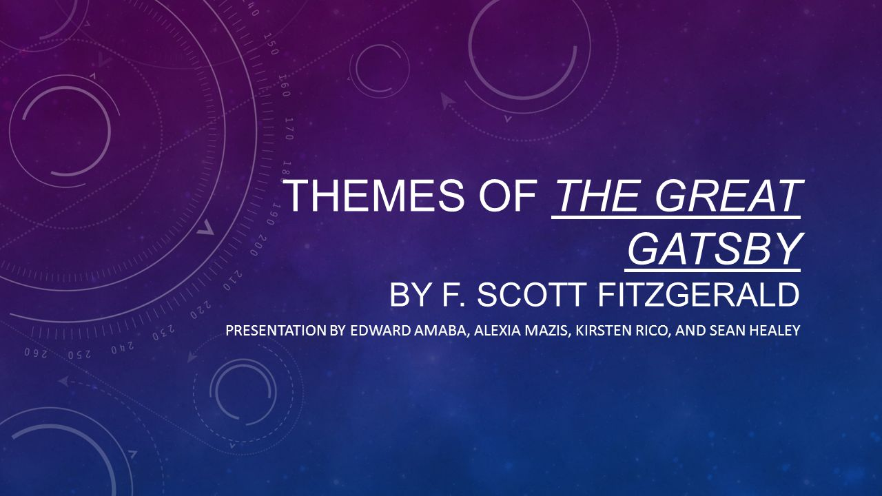 Themes of The Great Gatsby By F. Scott Fitzgerald